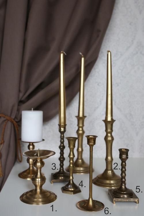 Žalvarinės žvakidės