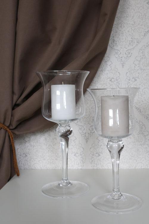 Blizgios metalo sidabro spalvos žvakidės