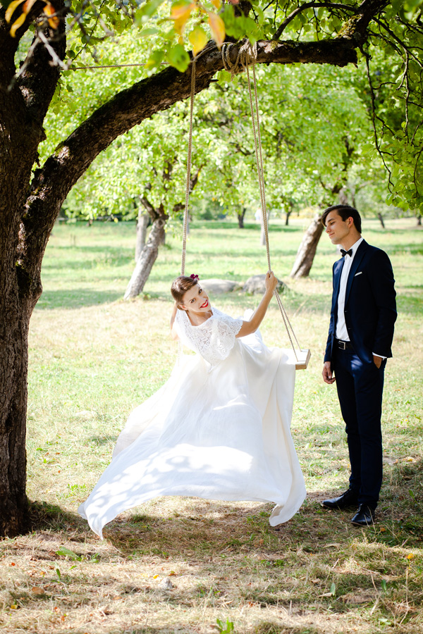 Supynės vintažinio stiliaus vestuvėse