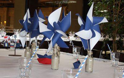 Vėjo krikštynos laivelių tema
