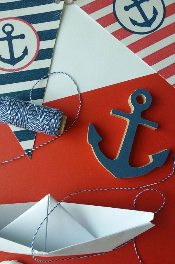 Kriktynų dekoravimas Laivelių tema