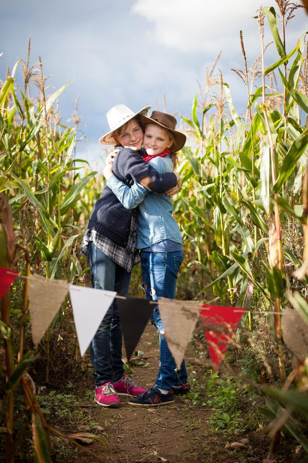 Vaikų kaubojiškas gimtadienis rudenį