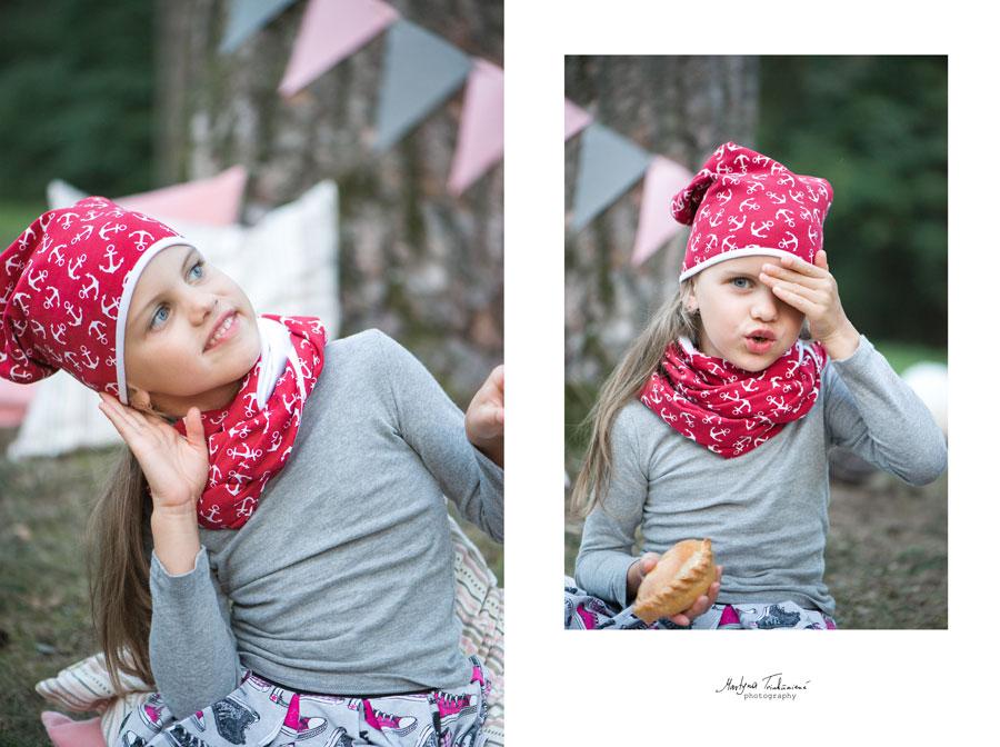 Vaikiška kepurė ir kaklaskarė
