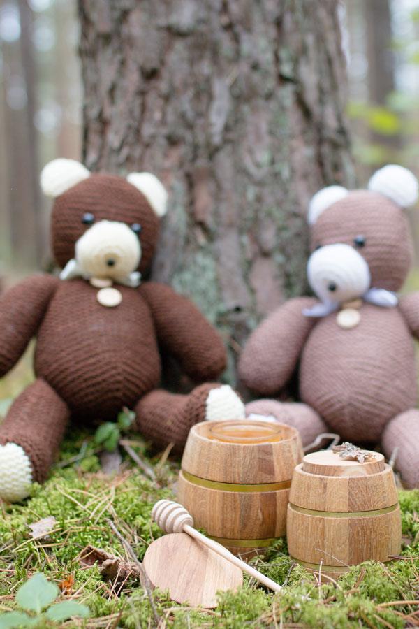 Nertas žaislas medus staline miske