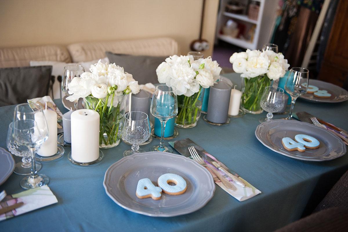 elegantiskas gimtadienio stalas