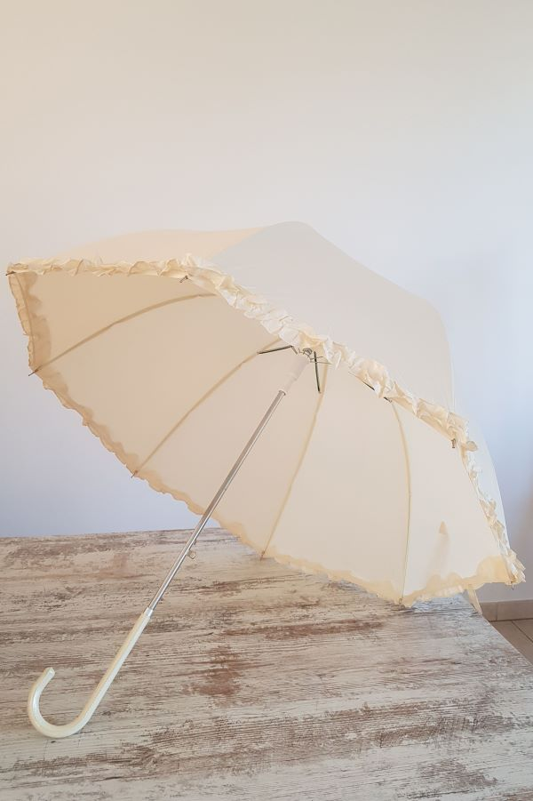 Baltas skėtis nuotakai nuoma - Asta Deco